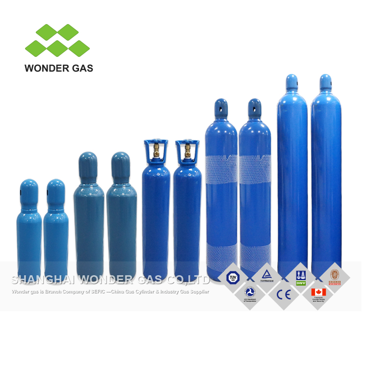High Purity And Good Quality DOT-3AA Seamless Steel Gas Cylinder Oxygen Gas Cylinder