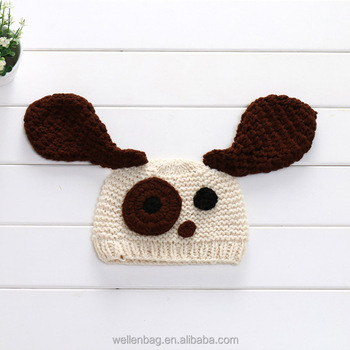 Whole Crochet Hat Animal Dog Kids Beanie Photography Props Baby Animals Winter Hats