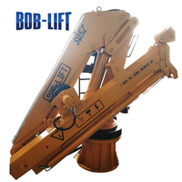 portable hydraulic folding arm small 5 ton boat lifting crane price