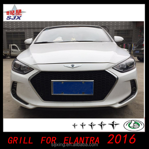 grill for elantra 2016 car grille for elantra 20112012 2013 2014 Factory direct bodykit spoiler widow viors