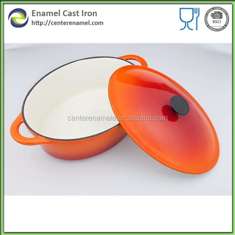 migliori pentole prodotti eco friendly padella wok cinese wok cottura pentole di smalto ferro olandese cast