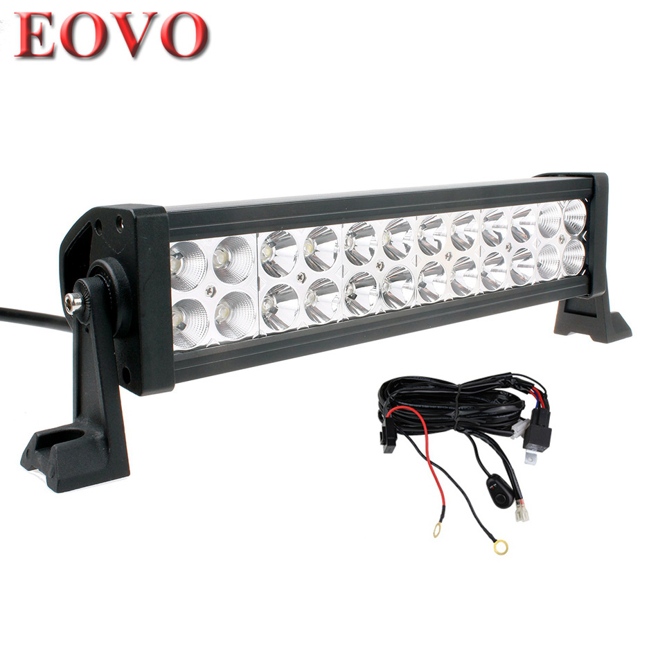 12 inch 72w led light bar switch wiring kit for off road. Black Bedroom Furniture Sets. Home Design Ideas