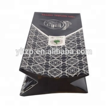 250g black coffee tea bag silver plastic packaging