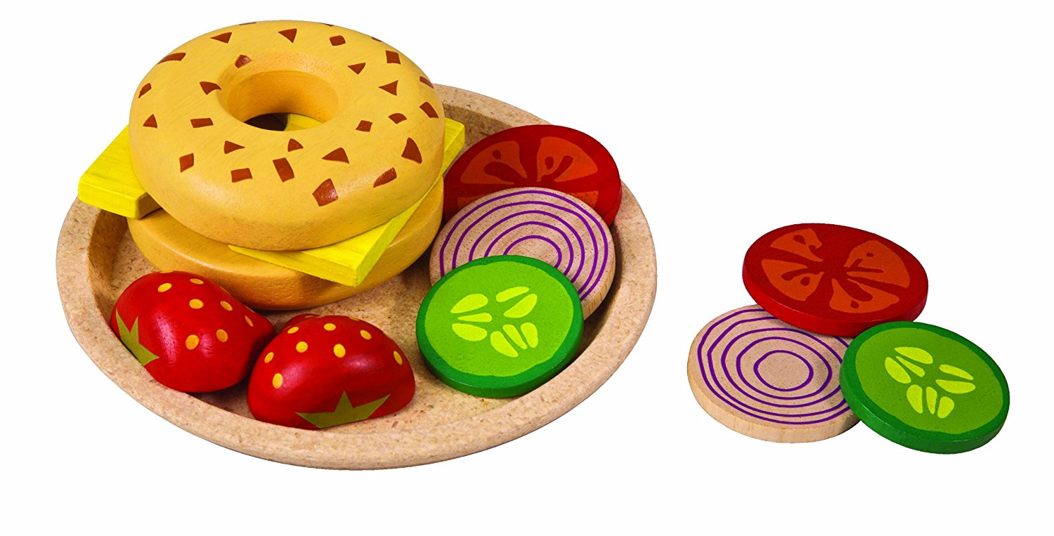 Plan Toys Planactivity Bagel With Cheese Play Set