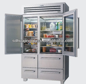 Beau 168Bottles Transparent Glass Door Refrigerator For Sale, With Stainless  Steel Shake Handshandle Glass Door
