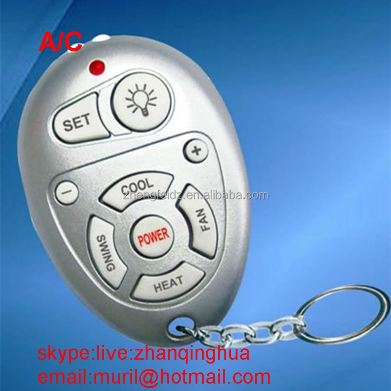 Mini Round Slivery 9 Keys Universal air conditioner Remote controls multi key chains ac remote hot selling to 2015 summer winter