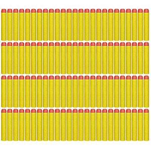 CloudCloud 100 Pcs Foam Darts for Nerf N-strike Elite Series Blasters Toy Gun (Yellow) Color: Yellow, Model: , Toys & Play