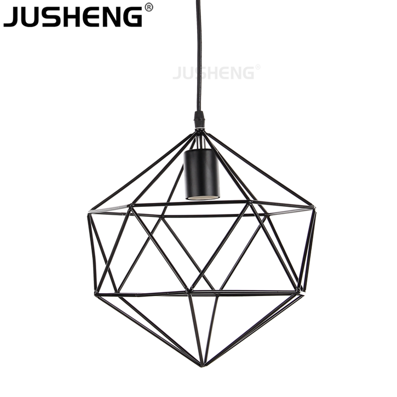 Black Industrial Lighting Chandeliers Vintage Pendant Lamp With E27