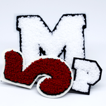 Custom 3D Embroidery Letters Numbers Logo Embroidered Chenille Patches