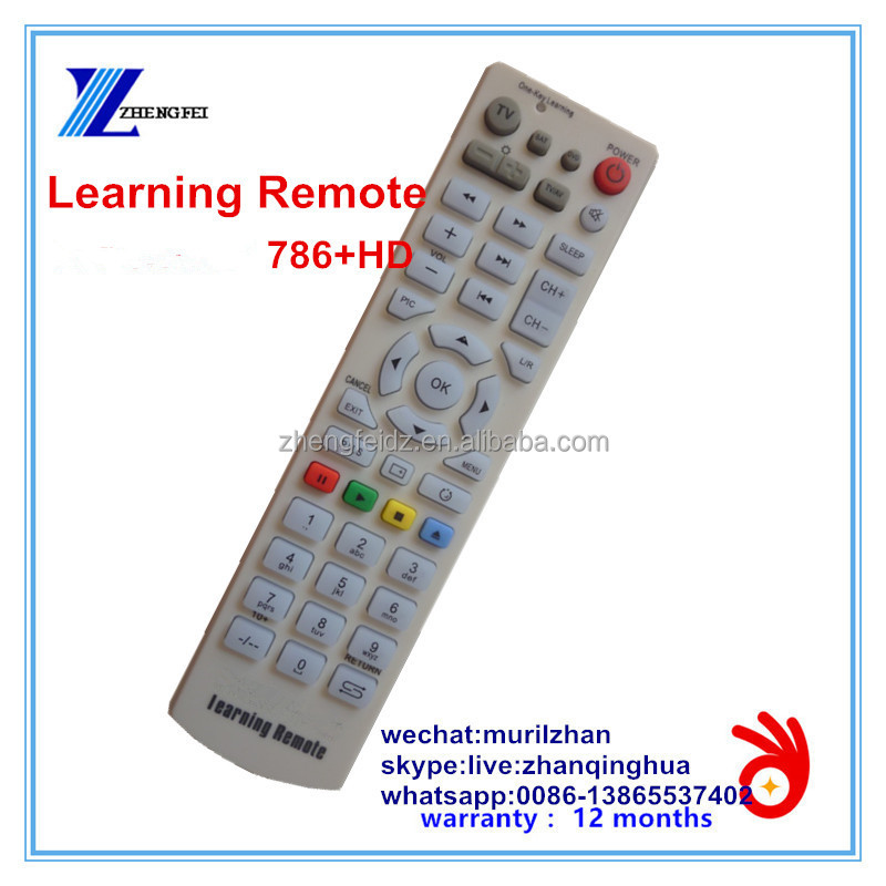 ZF High Quality White 45 Keys 786+HD Learning Remote Control can copy TV Remote code/fucntion