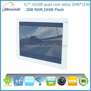 9.7 inch android 4.2 tablet pc quad core pad RK3188 touch screen