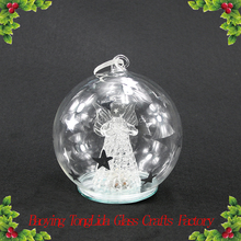 100 wholesale clear glass christmas ball with led light ornaments