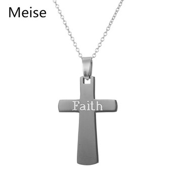 Yiwu meise stainless steel simple design necklace black faith yiwu meise stainless steel simple design necklace black faith meaning necklace cross pendant necklace aloadofball Gallery