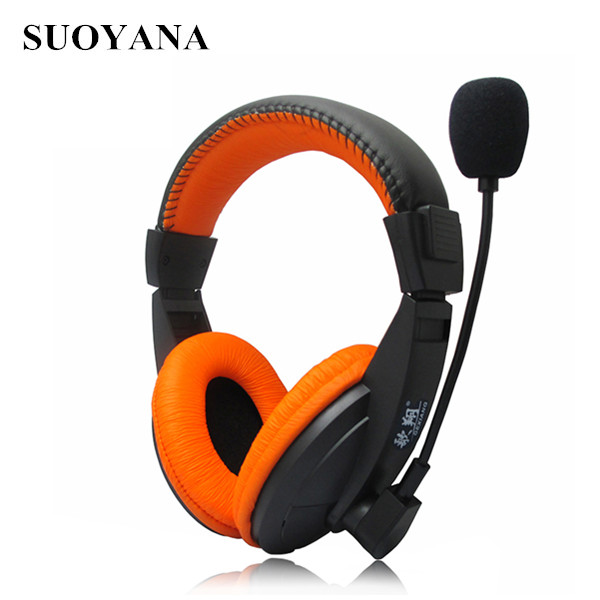 Suoyana BSCI and SEDEX factory cheapest wired headphone and headset with microphone
