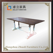 European style italian dining table dining 100% solid wood high quality