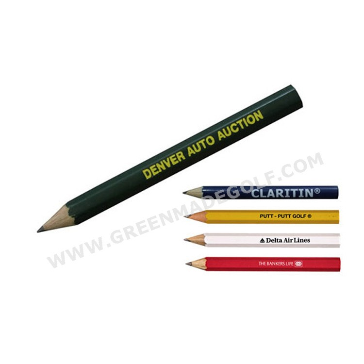 Personalized logo printed 3.5 inch HB wooden golf pencil