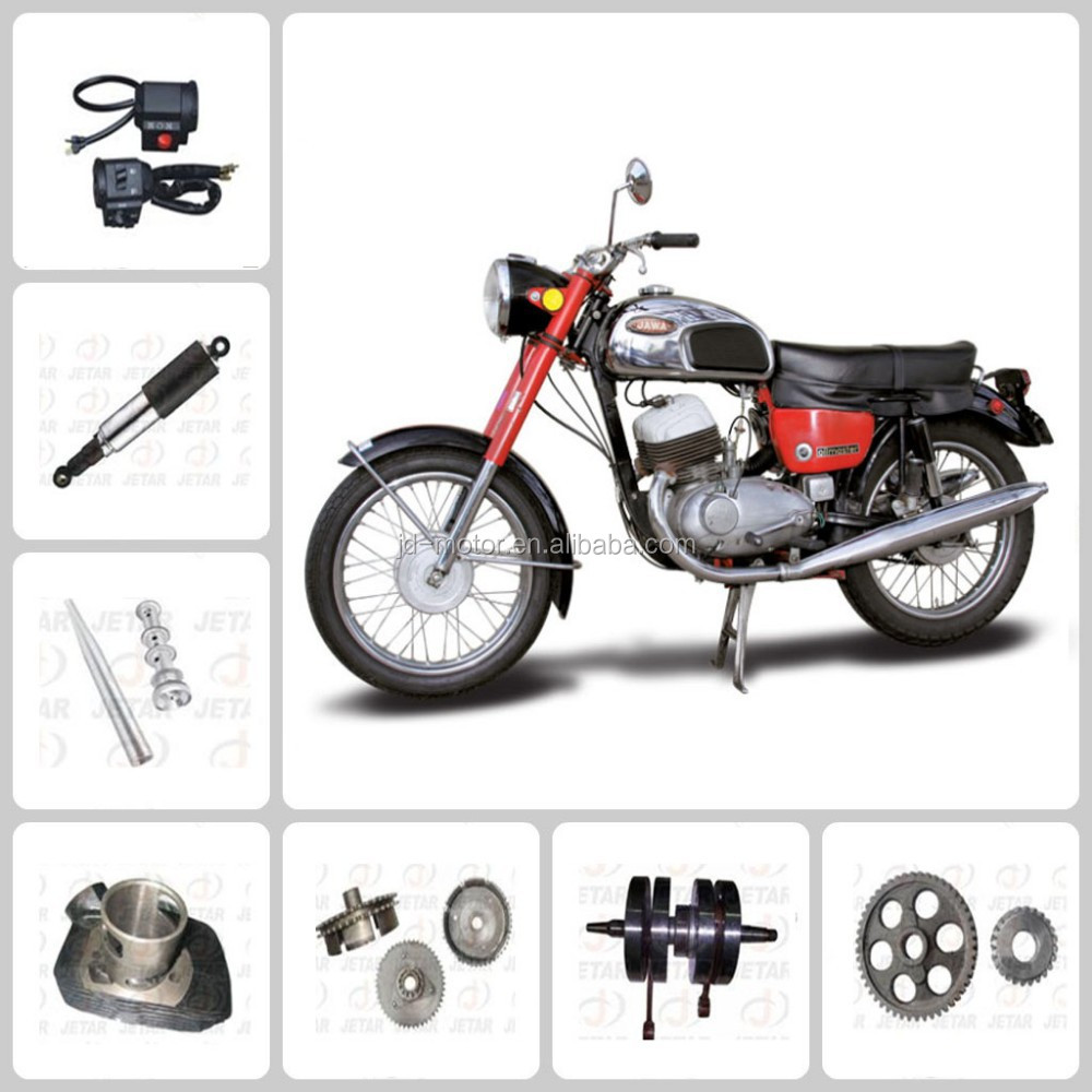 Shock absorber/tyre/meter/ and rear brake cam for jawa