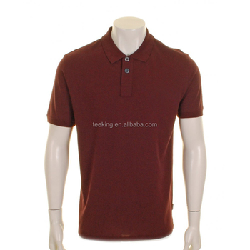 Maroon Cotton Mens Custom Work Polo Shirt