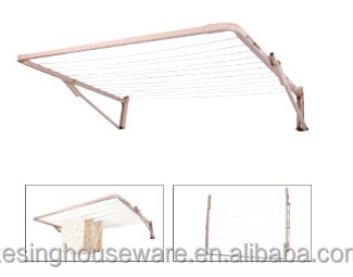Folding Foldable Wall Mount Clothes Drying Rack Galvanized