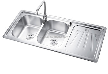 Double Bowl Stainless Steel Kitchen Sink.European Style 304 Stainless Steel Double Bowl Stainless Steel Kitchen Sink Buy Double Bowl Stainless Steel Kitchen Sink With Drain Board Double