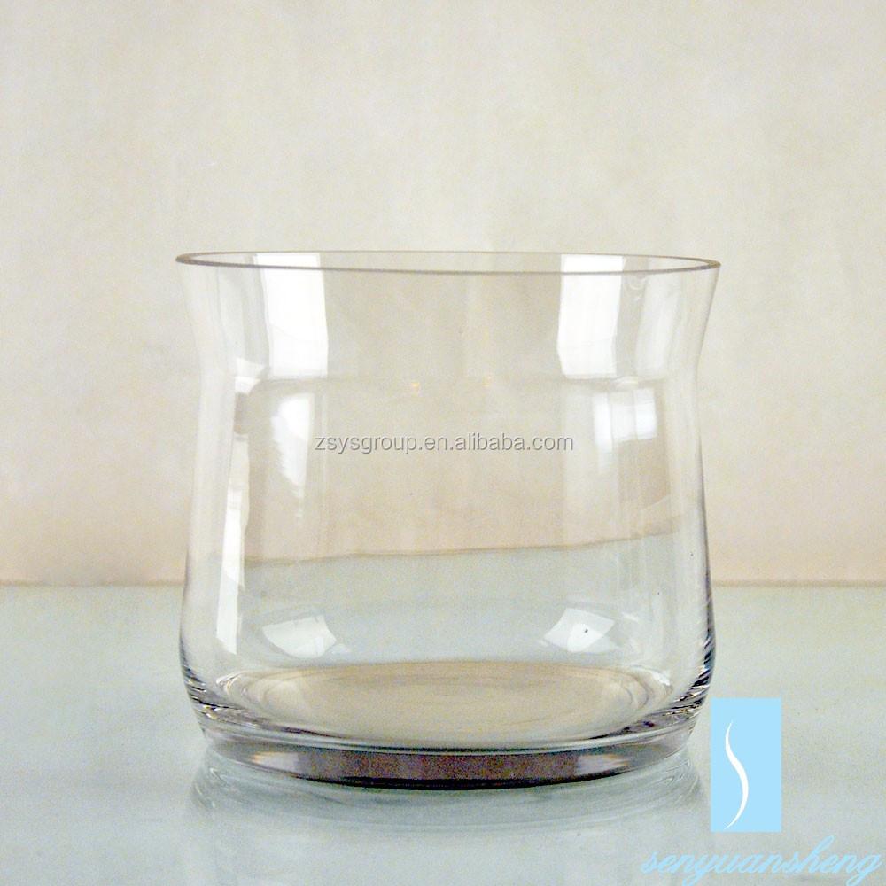 ecofriendly claro floreros de cristal redondo para la boda centros de mesa