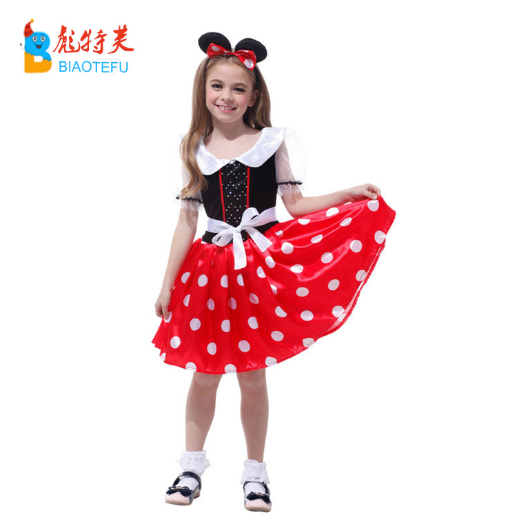 cheap carnival girl fancy dress costumes kids party cosplay mouse dress in stock