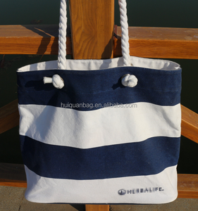 f3aebf7c7b94 British style stripe wholesaler canvas tote shopping bag