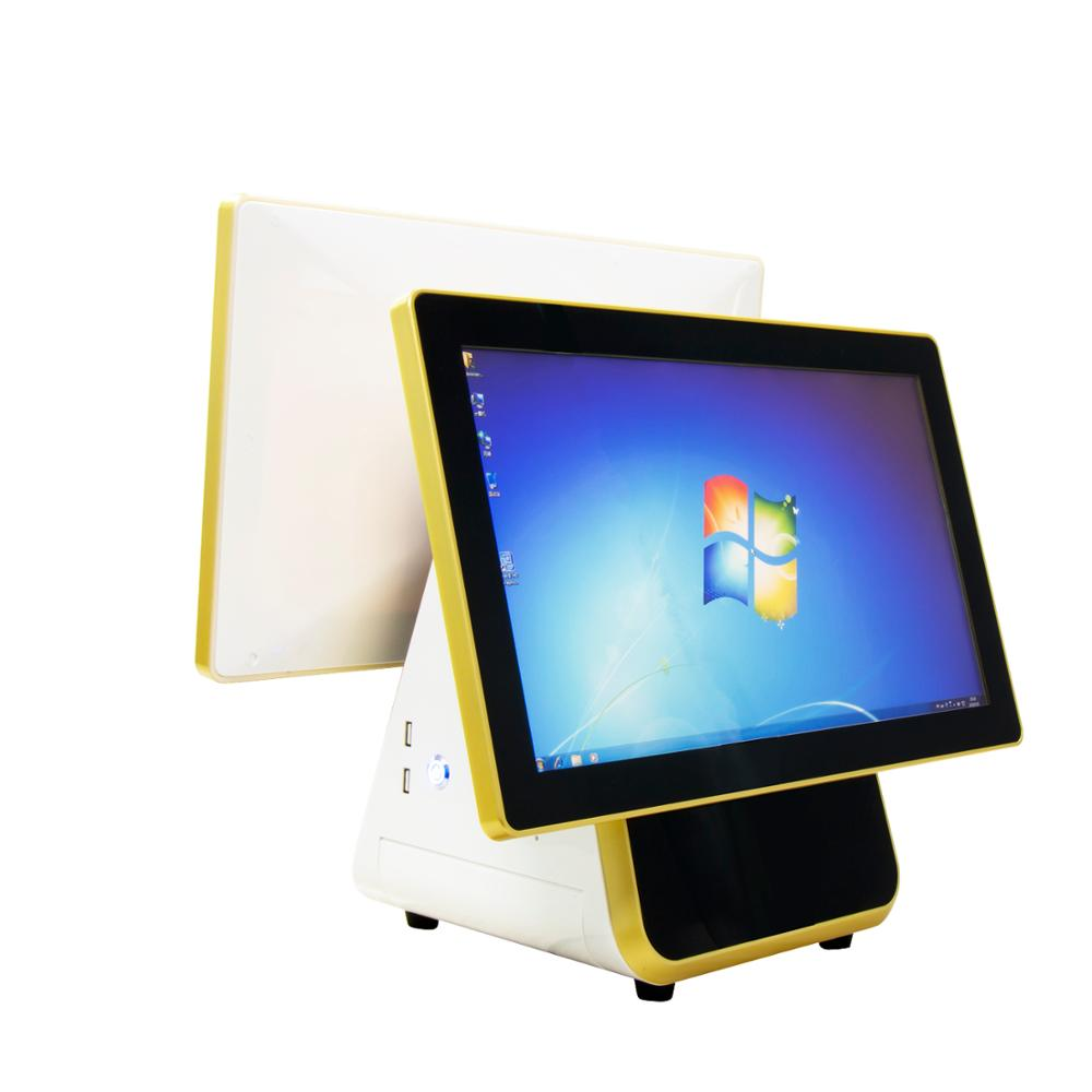 "15.6'' Touch Screen Cash Register and 15.6"" Guest Screen with 58/80mm Thermal Terminal for Restaurant, Market etc."