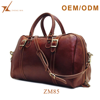 Custom logo expandable weekend overnight travel bag men s leather duffle bag b8f42f056d903