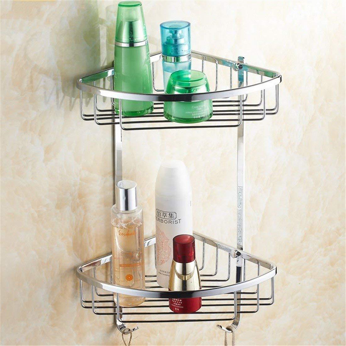 LAONA A contemporary minimalist Brass chrome bathroom accessory kit bath towel rack Towel racks, built-in basket 2 B