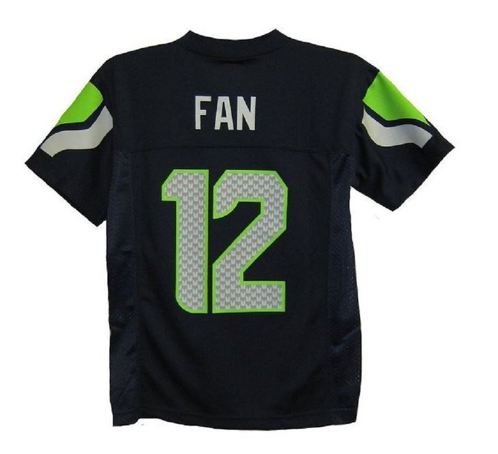 8df653ff40b 12th Fan Seattle Seahawks  12 Man Navy Blue NFL Youth 2016-17 Season Jersey