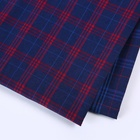 Stocklot fabric in china polyester plaid check shirt fabric istanbul