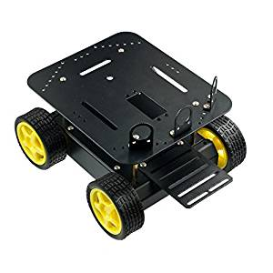 Venel--Arduino Pirate-4WD Mobile Platform,Is Intended for Use With the ROMEO Microcontroller and Includes 4x Drive motors, 4x Wheels and a Complete Chassis with Mounting Hardware