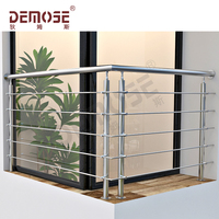 ss316 metal safety balcony railings for outdoor