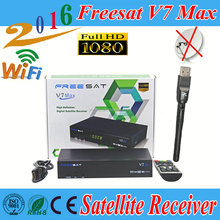 Original Freesat V7 Max DVB-S2 Satellite TV Receiver +1pc USB Wifi Support 1080p Full HD PowerVu Biss Key Youporn Set Top Box