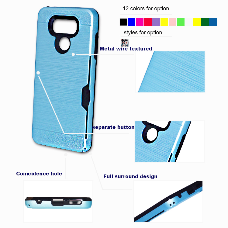 With credit card slot phone back cover for samsung J2core card case for samsung