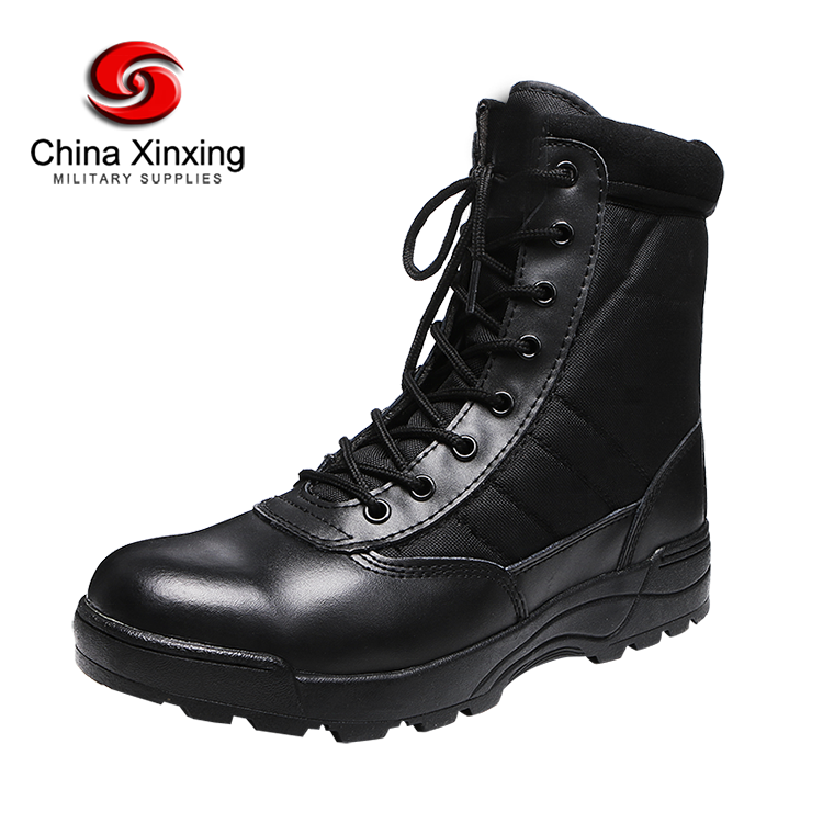 Chinese Government authorized supplier Army Jungle Black Leather Tactical Combat Military Boots for men