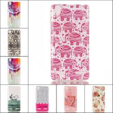 Free Shipping Fashion Owl Eyes Flower Elephant Design Soft TPU Cases Skin for Lenovo K3 / Lemon K30-T A6000 / A6010 Plus A6000+