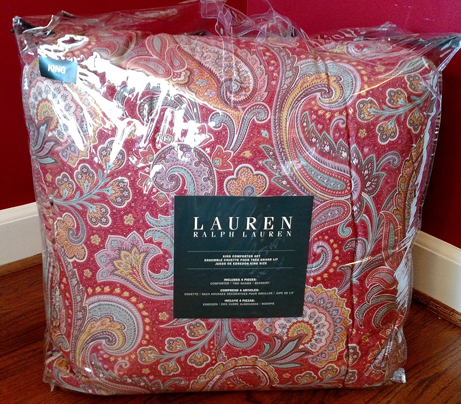 Buy 500 Ralph Lauren Pirouette Paisley Red Cranberry Celadon King 4 Piece Comforter Set In Cheap Price On Alibaba Com