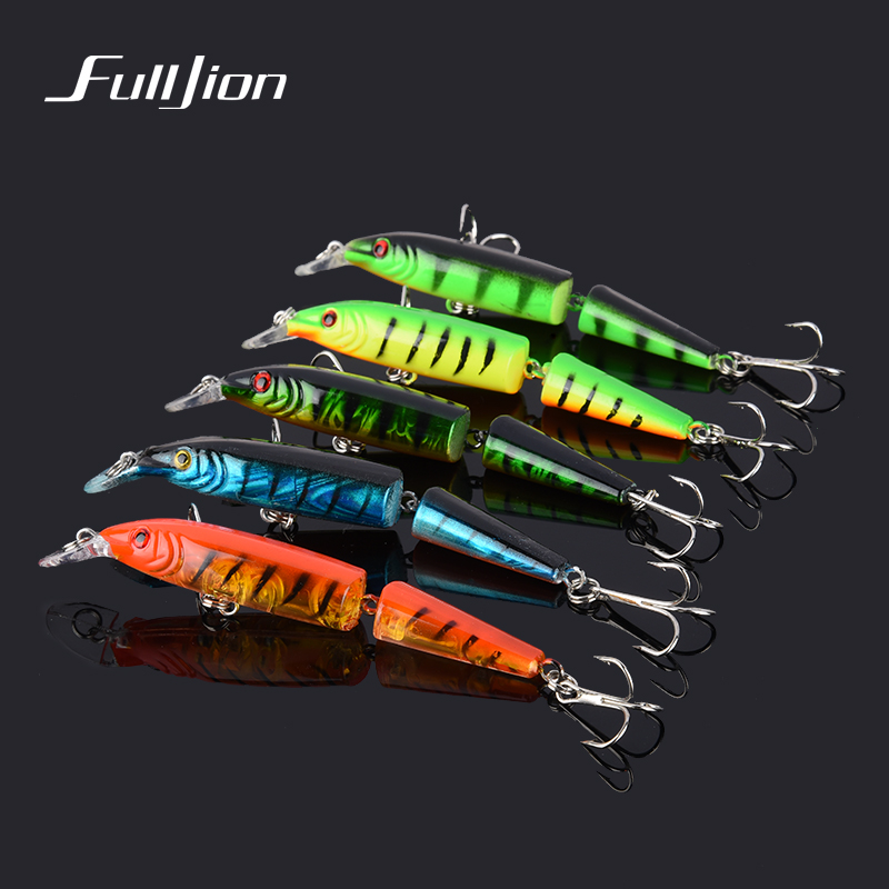 1pcs Fishing Lures Minnow Laser Hooks Wobbler Artificial Hard Baits Fishing Tackle Crankbait Pesca 2 Sections 9.6g 10.5cm