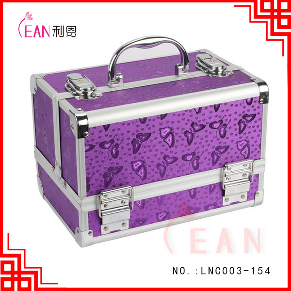 Aluminium Hairdressing Salon Makeup Beauty Box Nail Trolley Case Carry Case Cosmetics