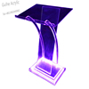 GUIHEYUN High quality X-shaped clear custom acrylic church podium/pulpit for sale
