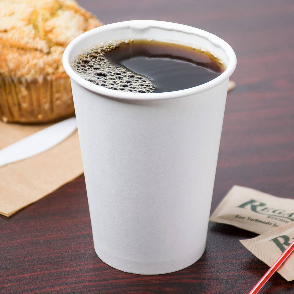 Disposable Biodegradable White Paper Coffee Cup in Hot Selling