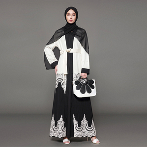Modest fashion dubai fancy dresses muslim women printed plaid abaya indian long cotton muslim blouse