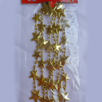 Fantastic Star Shape Beads Garland For Christmas Tree Decoration Buy Craft String Beads Christmas Decorative Beads String Christmas Tree String