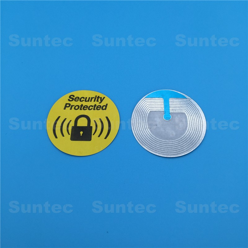 Most popular rf 8.2mhz 4*4cm eas labels for retai shop