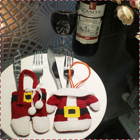 DM 434 wholesale 2017 Santa Cutlery Christmas Table Setting decoration knife and fork Christmas Cutlery Holder