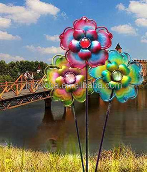 Metal Decorative Flower Garden Stakes Wholesale