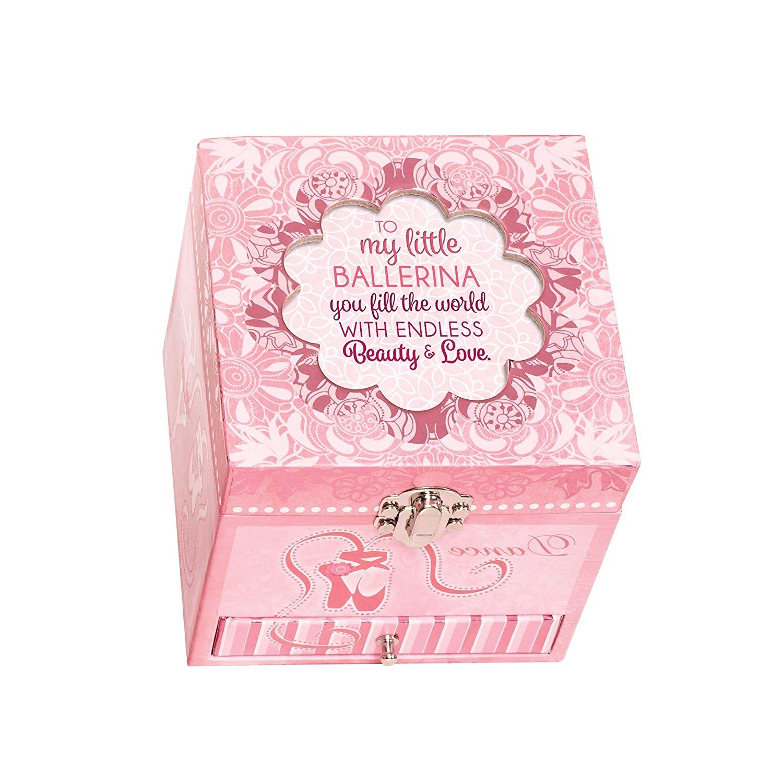 Cottage Garden Little Ballerina Endless Love Pink Ballerina Musical Box Plays Tune Swan Lake