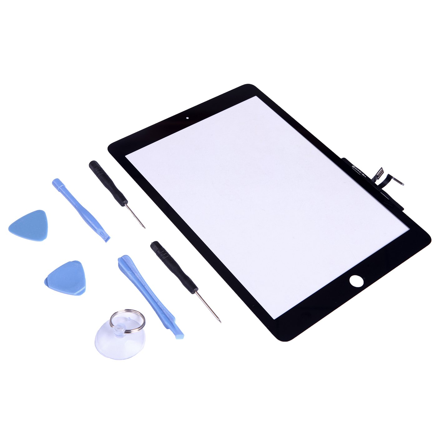 HDE iPad Air Replacement Screen Front Glass Touch Digitizer Assembly Tool Kit for Apple iPad Air 5th Generation Tablet (Black)